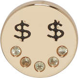 Marc Jacobs Gold Dollar Eye Earring