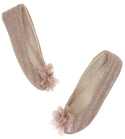 LOFT Flower and Sparkle Slippers