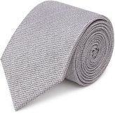 Reiss Ceremony - Textured Silk Tie in Grey, Mens