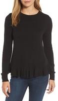 Halogen Women's Ruffle Hem Sweater