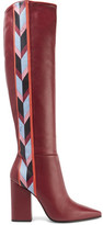 Emilio Pucci Printed Leather Over-The-Knee Boots
