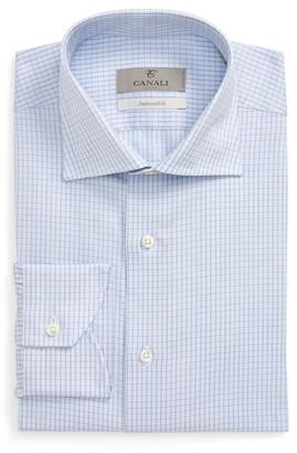 Canali Impeccabile Regular Fit Check Dress Shirt
