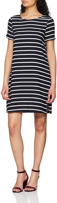 Only NOS Women's 15156397 A-Line Short Sleeve Dress - Multicolour - 12 (Manufacturer Size: 40)
