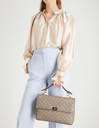 Valentino Rockstud Spike quilted leather large shoulder bag