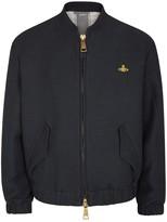 Vivienne Westwood Navy Twill Bomber Jacket