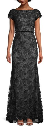 Mac Duggal Beaded & Embroidered Lace Gown