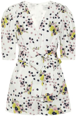 Les Rêveries Exclusive to Mytheresa Floral cotton poplin playsuit
