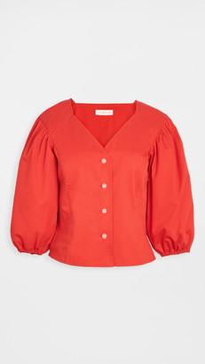 Tory Burch Cotton Puffed Sleeve Top