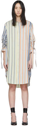 J.W.Anderson Multicolor Striped Gathered Sleeve Dress