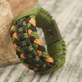 Hand Braided Poly Cord Bracelet for Men Made in Ghana, 'Old School'