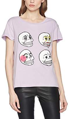 Cheap Monday Women's Have tee Personal Skull T-Shirt,6 (Size:X-Small)