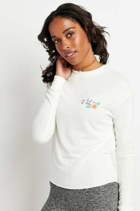 Spiritual Gangster Aloha Hibiscus Crop Sweatshirt - XS