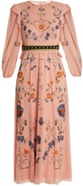 RED Valentino Floral-print silk-blend georgette dress