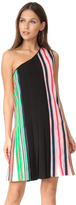 Diane von Furstenberg One Shoulder Ribbon Dress