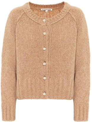 ALEXACHUNG Cropped wool-blend cardigan