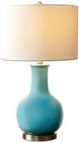 Abbyson Living Jankins Ceramic Table Lamp, Blue