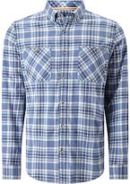 John Lewis Flannel Cotton Check Shirt, Blue
