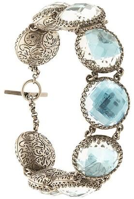 Larkspur & Hawk Olivia Sky Foil Button bracelet