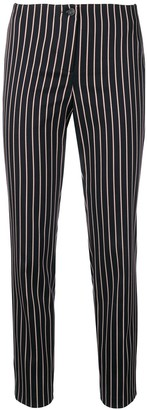 Cambio striped skinny trousers