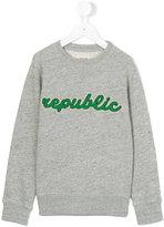 Bellerose Kids republic embroidered sweatshirt
