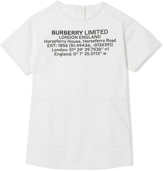 BURBERRY KIDS Location Print Dress