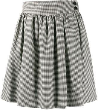 MSGM Houndstooth Pleated Mini Skirt