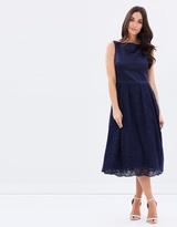 Oasis Satin Lace Midi Dress