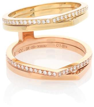 Repossi Exclusive to mytheresa.com Antifer 18kt gold ring with diamonds