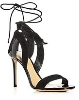 Giorgio Armani Lu Ankle Tie High Heel Sandals
