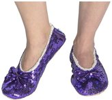 snoozies! Womens Radiance Bling Ballerina Sequin Slippers 7/8
