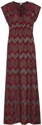 M Missoni Zigzag Metallic-knit Maxi Dress