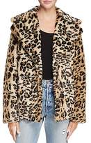 Aqua Leopard Print Faux Fur Coat - 100% Exclusive