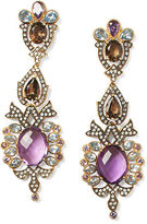 Ralph Lauren Large Crystal Scroll Earrings