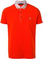 Etro contrast collar polo shirt - men - Cotton - XL