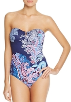 Tommy Bahama Paisley V-Wire One Piece Swimsuit