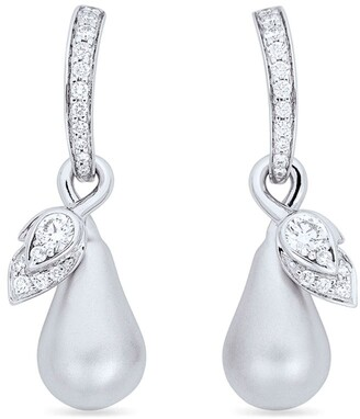 Boodles White Gold and Diamond Orchard Drop Earrings