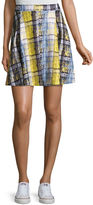 PROJECT RUNWAY Project Runway Pleated Scuba Skater Skirt