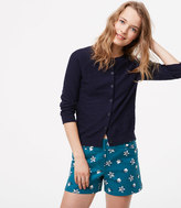 LOFT Petaled Riviera Shorts with 4 Inch Inseam