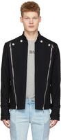 Pierre Balmain Navy Convertible Jacket