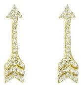 Jennifer Meyer Yellow Gold Diamond Arrow Studs