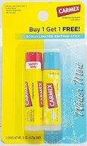 Carmex Lip Balm Original and Limited Edition Winter Mint, 0.15 OZ (4.25 g) each Stick