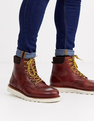 Office idyllic heritage boots in brown leather