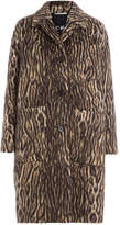 Rochas Animal Print Coat with Virgin Wool and Alpaca
