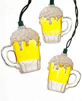 Kurt Adler Indoor/Outdoor String Lights, Beer Mugs