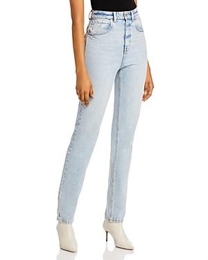 Alexander Wang High-Waist Slim Straight-Leg Jeans