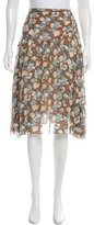 Marc Jacobs Silk Printed Skirt