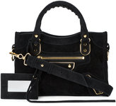 Balenciaga Metallic Edge Mini City bag - women - Suede - One Size