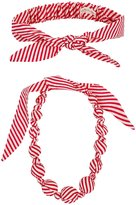 Peppercorn Kids Necklace & Bow Tie Headwrap Set (Kid) - Red-OS