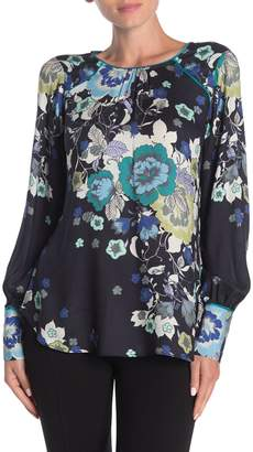 Hale Bob Melissa Floral Jacquard Long Sleeve Blouse