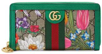 Gucci Ophidia GG Flora zip-around wallet